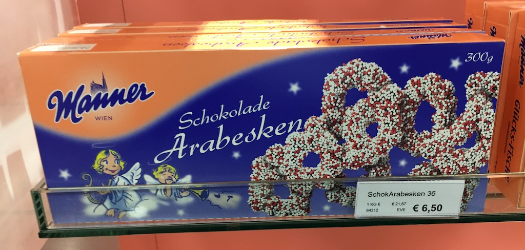 Manner Schokolade Arabesken 300 Gramm