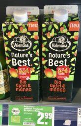 Valensina natur's best Bio Apfel- und Mango-Saft