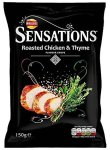 Walkers Sensations Roasted Chicken +Thyme Flavour Crisps 150 Gramm