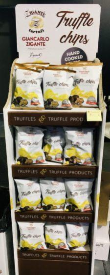 Schmales Display Zigante tartufi Trufle Chips Display