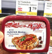 ja Natürlich Bio Brotaufstrich Mexico auf Bohnenbasis feurig 140 Gramm