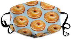 Atemschutzmaske mit Donut-Motiv