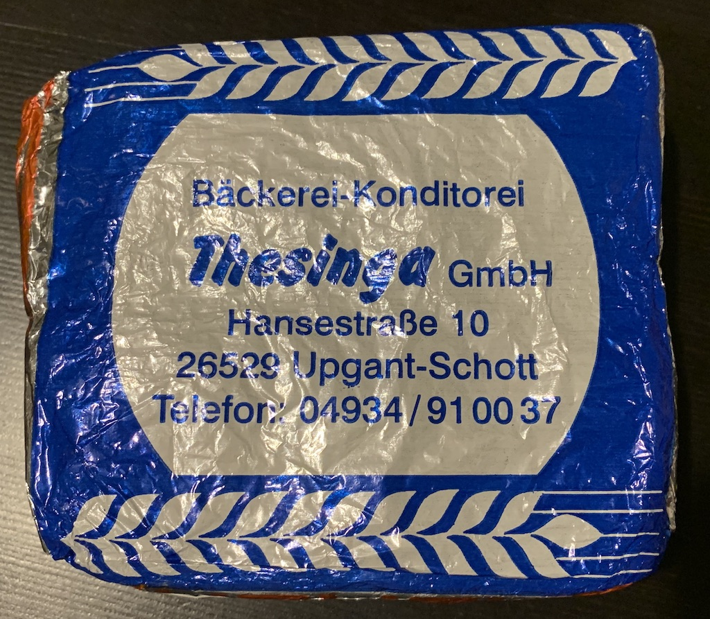 Bäckerei-Konditorei Thesinga Upgant-Schott Ostfriesisches Schwarzbrot