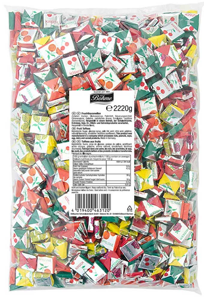 Böhme Fruchtkaramellen 2220 Gramm