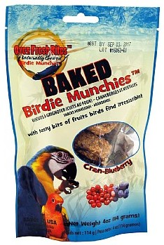 Baked Birdie Munchies with Cran-Blueberry