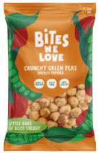 Bites we Love Crunchy Green peas Erbsen Geschmacksrichtung geräucherte paprika smoked Paprica