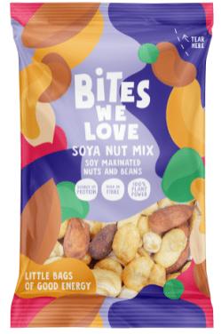 Bites we love Soja-Nuss-Mischung mit marinierter Soja-Nüssen und Bohnen