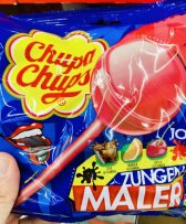 Chupa Chups Zungenmaler Lollies Cola-Orange-Kirsch-Geschmack