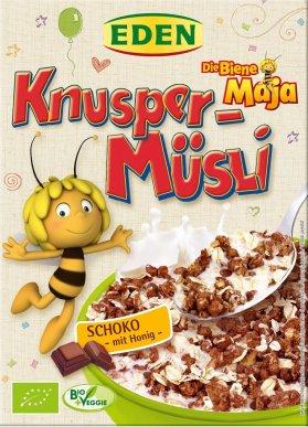 Eden Bio-Knusper-Müsli Biene Maja Schoko mit Honig