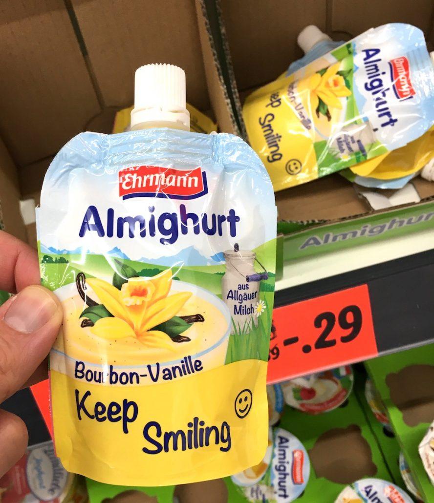 Ehrmann Almigurt Keep Smliling Quetschbeutel Bourbon-Vanille