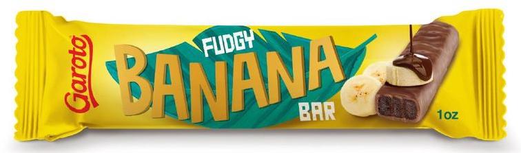 Garoto Fudgy Banana Bar Fudgeriegel mit Bananengeschmack