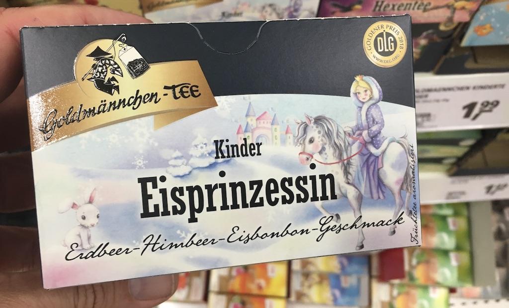 Goldmännchen-Tee Kinder Eisprinzessin Erdbeer-Himbeer-Eisbonbon-Geschmack