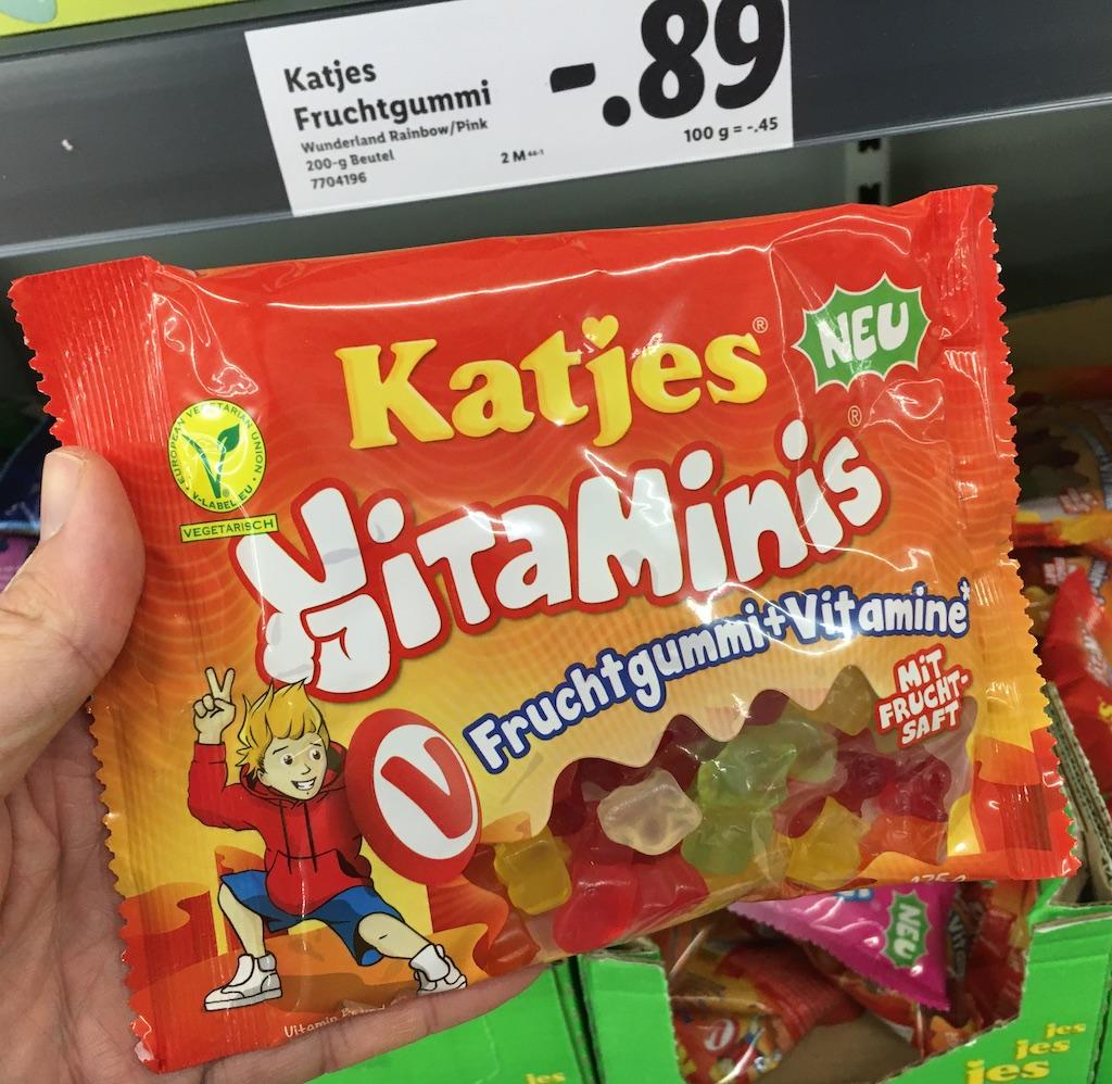 Katjes Vitaminis Fruchtgummi+Vitamine mit Furchtsaft 175 Gramm