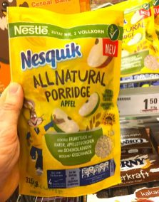 Nestlé Nesquik All natural Porridge Apfel