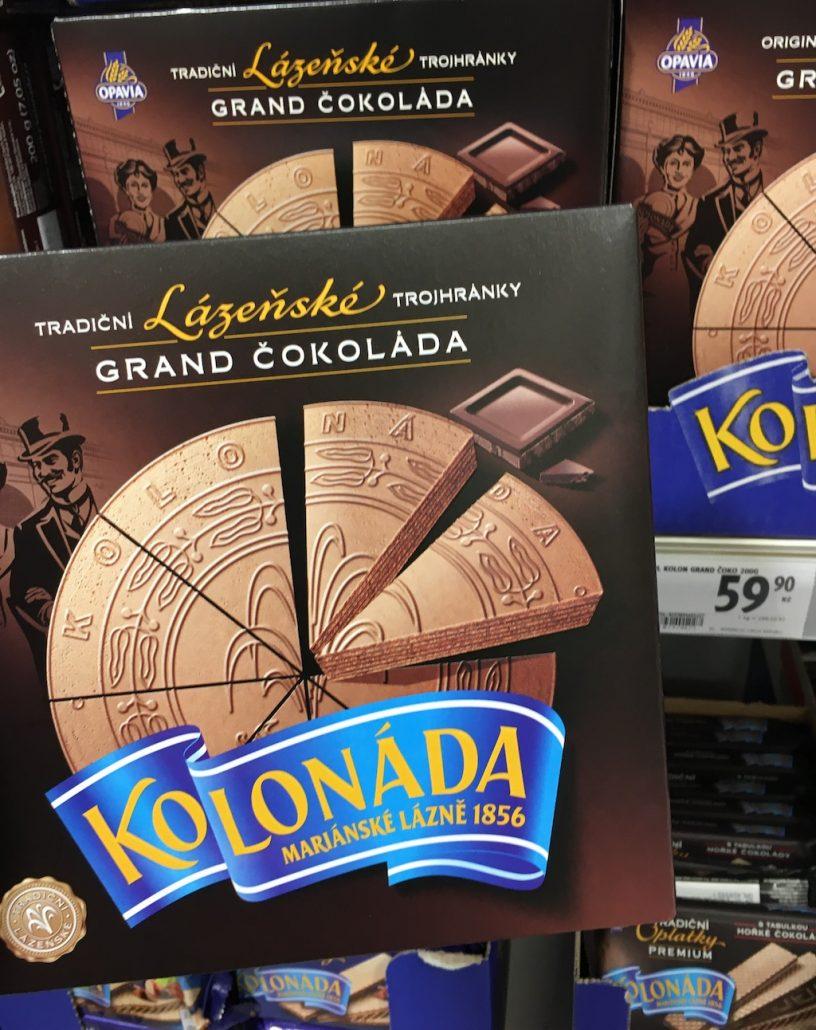 Opavia Lázenské Grand Cokolada Kolonáda Karlsbader Oblaten Tschechien Dunkle Schokolade