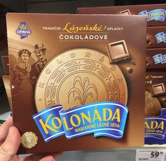 Opavia Lazenské Schokolade Kolonáda Karlsbader Oblaten