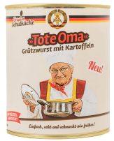 Original Schulküche Tote Oma Grützwurst mit Kartoffeln