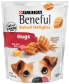 Purina Beneful Baked elights Hugs with real Beef and Cheese - with Wholesame Grains