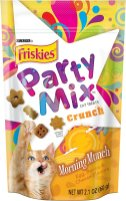 Purina Friskies Party Mix Crunch Morning Munch Egg-Bacon-Cheese-Flavors