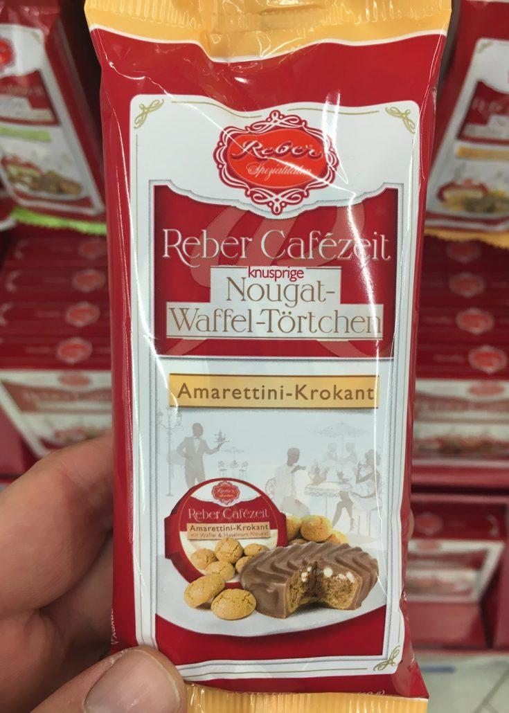Reber Cafézeit knusprige Nougat-Waffel-Törtchen Amarettini-Krokant