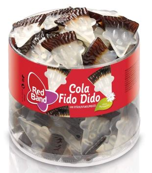 Red Band Cola Fido Dido Fruchtgummi Dose