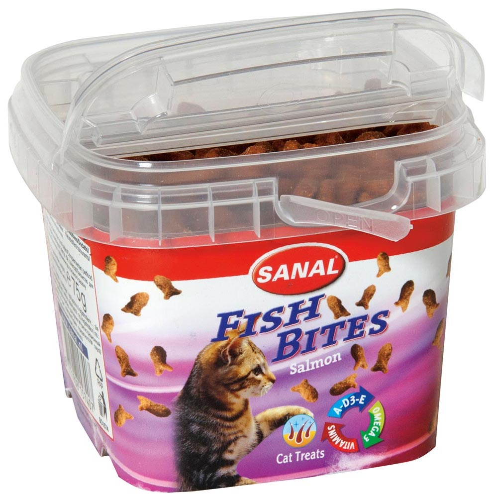 Sanal Fish Bites Salmon Cat Treats Box