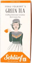 Schlürf Tee Frau Folkert's Green Tea