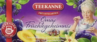Teekanne Früchtegarten Omas Früchtegeheimnis Teebeutel
