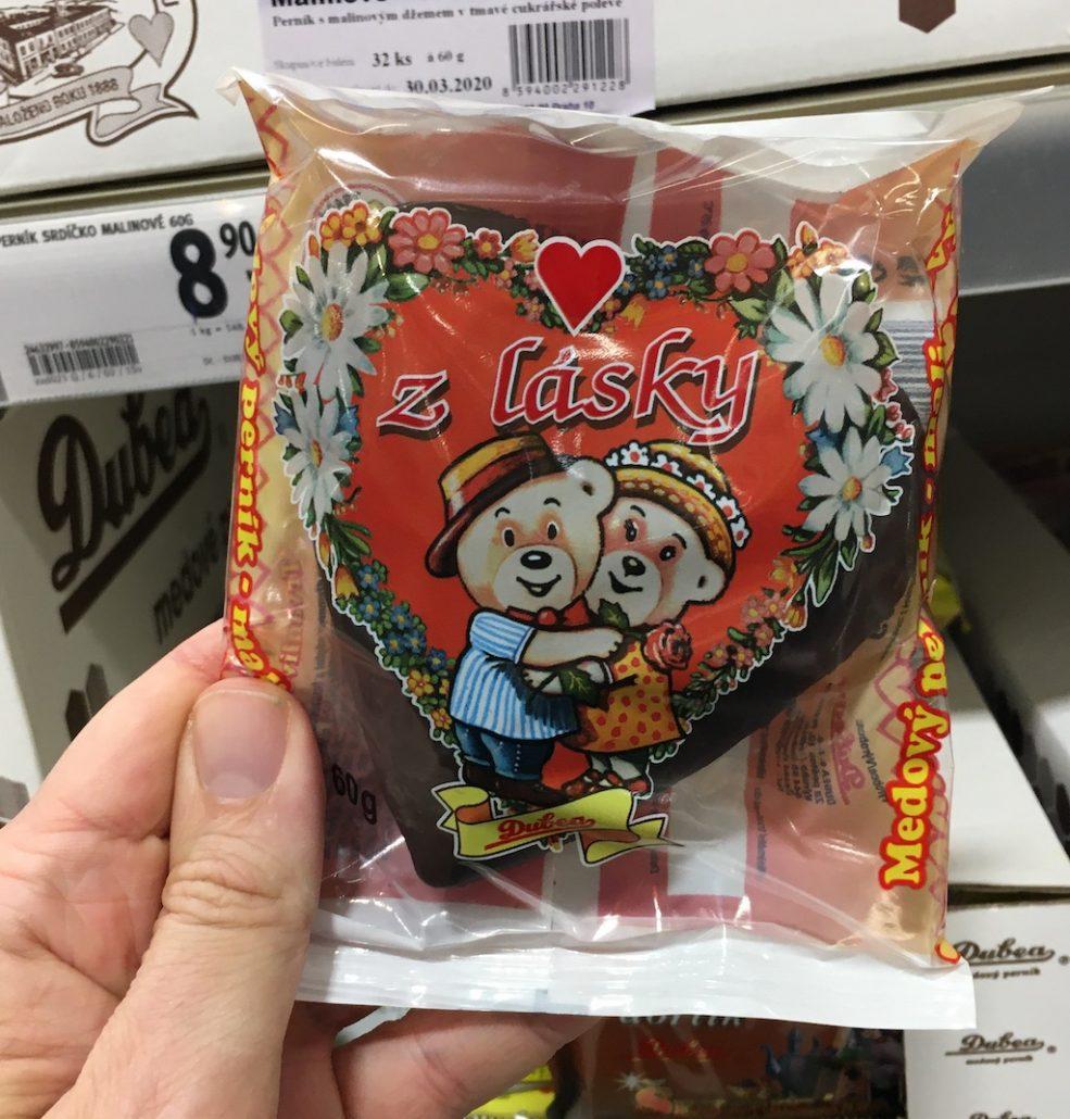 Dubea Tschechische Fertigkuchen in Herzform mit Bärenmotiv