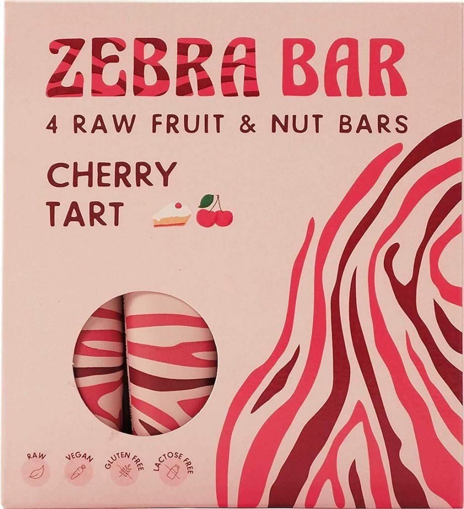 Zebra Bar 4 Raw Fruit & Nut Bars Cherry Tart