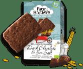 """Farm Brothers Biokekse mit Geschmack """"Dunkle Schokolade mit Meersalz"""""""