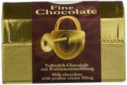 Heidel Fine Chocolate Tresor Vollmilchschokolade mit Pralinenfüllung