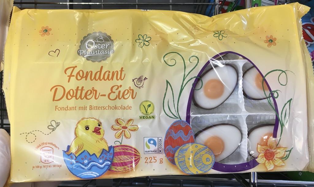ALDI Osterphantasie Fondant Dotter-Eier mit Bitterschokolade 225G