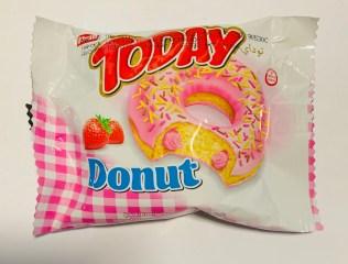 Elvan Today Donut mit Erdbeereeinzeln verpackt