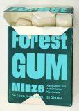 Forest Gum Minze Kaugummi-Packung 20 Gramm geöffnet