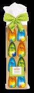 Hachez 8 Mini-Osterhasen farbig