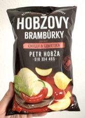 Hobza Tschechien Hobzovy Bramburky Chilli+Lime Kartoffelchips