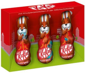 Nestlé Kitkat Mini-Osterhasen mit Handy und ipod