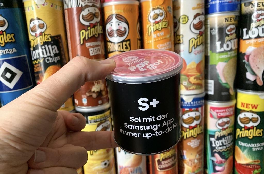 Pringles Sonderedition von Samsung Promotion