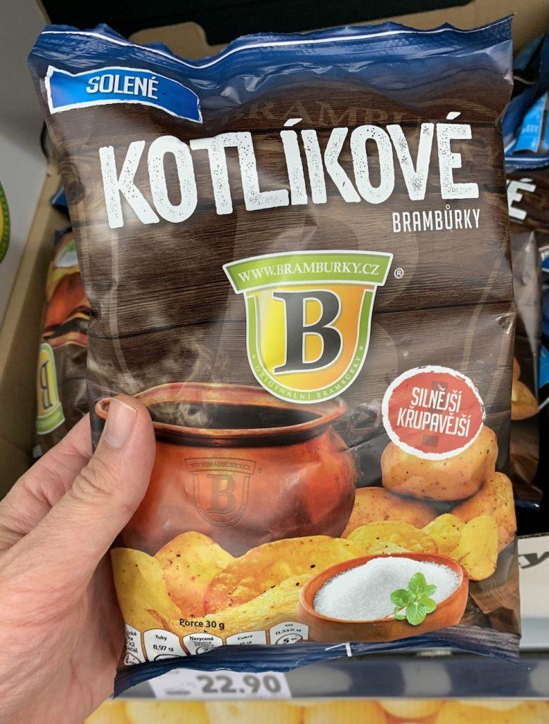 Solené Kotlikove bramburky Gesalzene Kartoffelcis Tschechien für 23 Kronen
