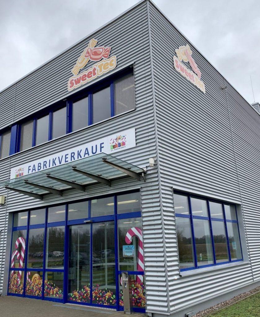 Sweettec Fabrikverkauf Boitzenburg Eingang