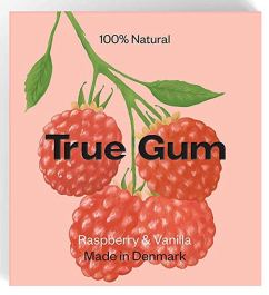 True Gum Raspberry+Vanilla Made in Denmark