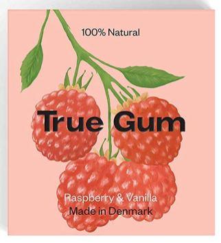 True Gum Raspberry+Vanilla Made in Denmark