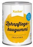 Xucker Zahnpflegekaugummi in der Dose. Geschmack: Fruchtmix. Gesüßt mit Xylit.