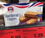 Aldi British Finest Meals+More Shortbread Fingers Feines Schottisches Mürbegebäck mit Butter aus der EU+Nicht-EU