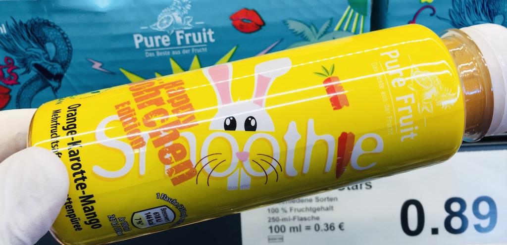 Aldi Pure Fruit Smoothie Happy Möhrchen Edition Oange-Karotte-Mango