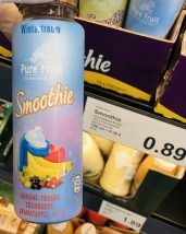 Aldi Pure Fruit Smoothie Wintertraum Banane-Traube-Cranberry-Granatapfel-Acai