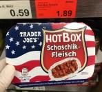 Aldi Trader Joe's Hot Box Schale Schaschlik Fleisch von Dreistern