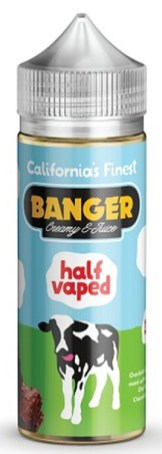 California's Finest Banger Creamy half vaped