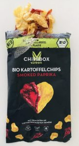 Chipsbox Green Bio Kartoffelchips smoked Paparika